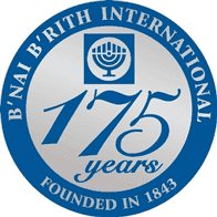 Photo of the B'nai B'rith 175th anniversary logo