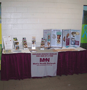 A Men's Health Network display