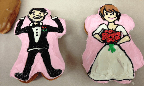 Photo of Voodoo Doughnut wedding doughnuts
