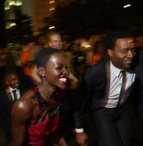 Photo of Lupita Nyong'o and Chiwetel Ejiofor at the New Orleans Film Festival