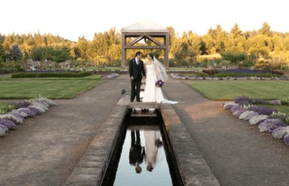 Photo of wedding at the Oregon Garden
