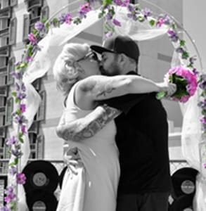Photo of a wedding at Viva Las Vegas Rockabilly Weekend