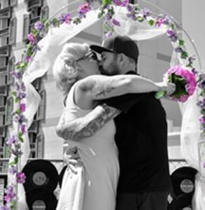 Photo of a wedding at Viva Las Vegas Rockabilly Weekend