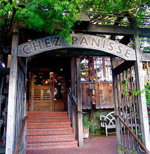 Photo of the doorway to Chez Panisse