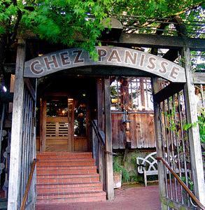 Photo of the doorway to Chez Panisse