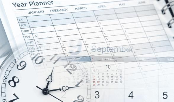 Photo of a clock and calendar