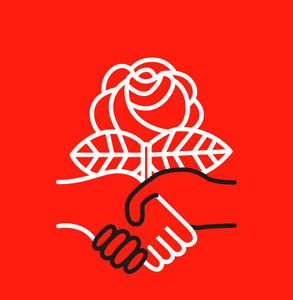 Photo of the Democratic Socialists of America logo