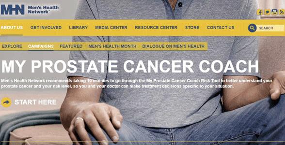 Screenshot of the Men's Health Network website