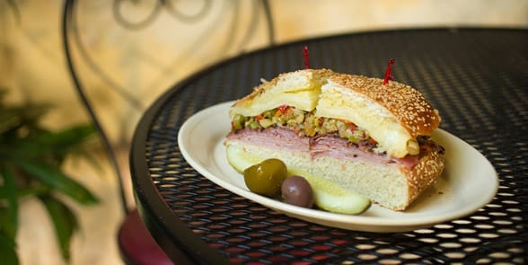 Photo of the Napoleon House muffuletta