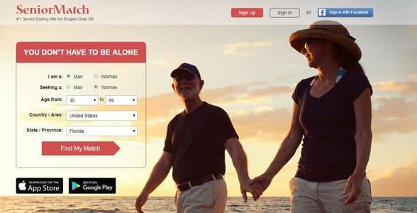 Screenshot of SeniorMatch.com