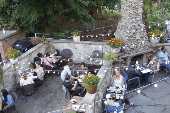 Photo of the outdoor patio at Barrio