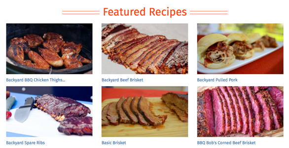 Screenshot of ShareMyCook.com recipes