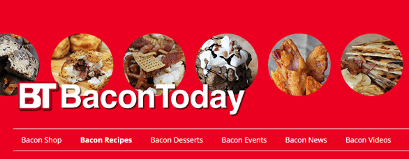 Screenshot of the Bacon Today website