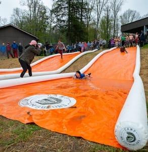 Photo of a slip'n'slide at Camp Meets Bagel