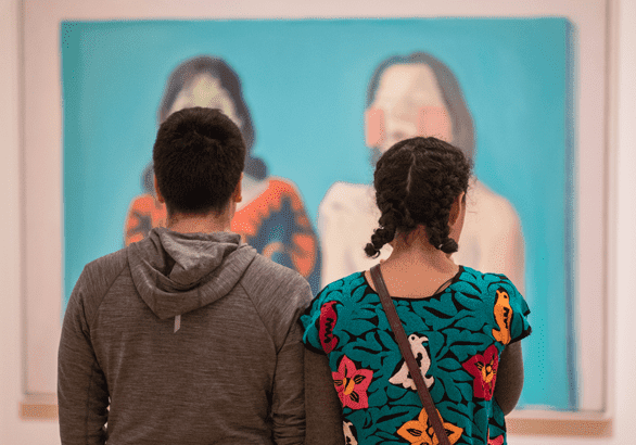 Photo of a couple in a gallery at the Cleveland Museum of Art