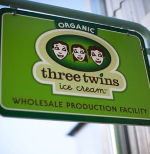 Photo of the Three Twins logo