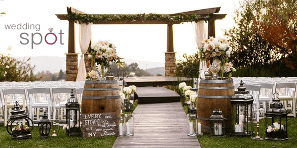Photo of a Wedding Spot venue and logo