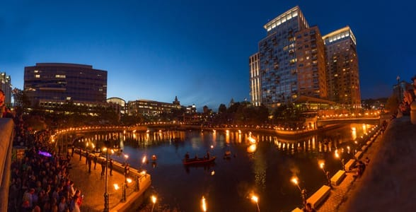 Photo of WaterFire at Providence, Rhode Island
