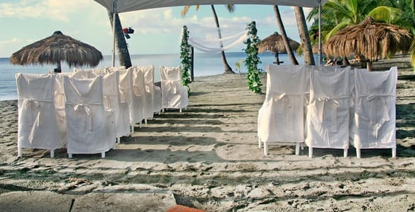 Photo of a wedding at Anse Chastanet
