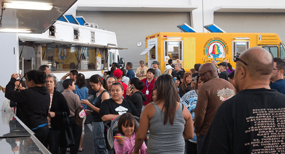 Photo of food trucks at an event