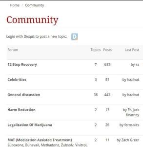 Screenshot of The Fix's online forum