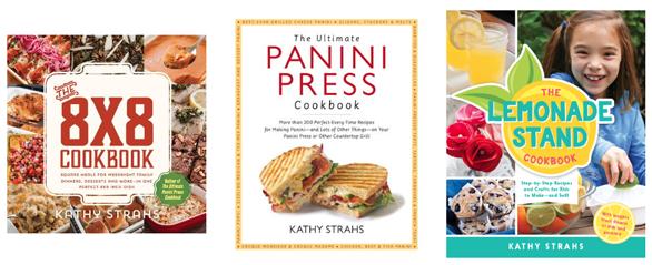 Photo of Kathy Strahs' cookbooks