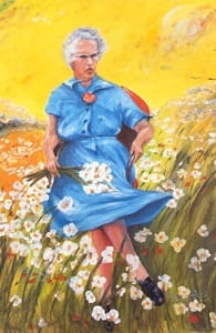 The Lucy in the Field With Flowers painting
