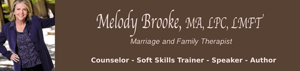 Screenshot of the Melody Brooke banner