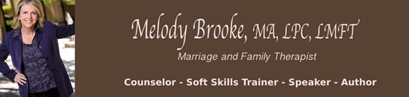 Screenshot of the Melody Brooke banner