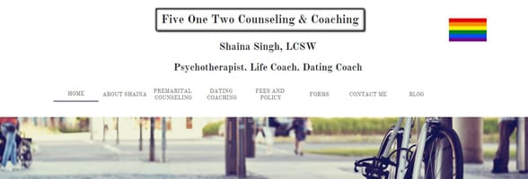 Screenshot of Shaina Singh's website