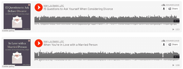 Screenshot of Mary Jo Rapini podcasts