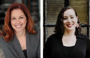 Chamin Ajjan therapists, from left, Amy Mazur and Kate Klein