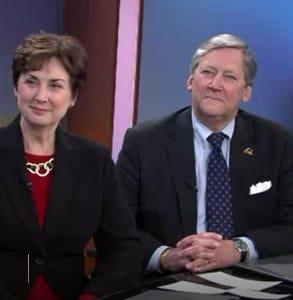 Photo of Drs. Charles and Elizabeth Schmitz on WGN