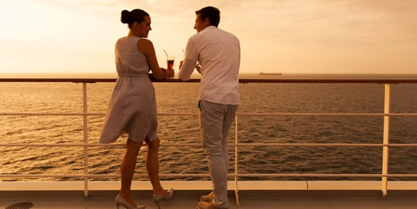 Photo of a couple on a cruise