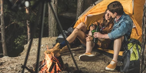 Photo of a couple camping