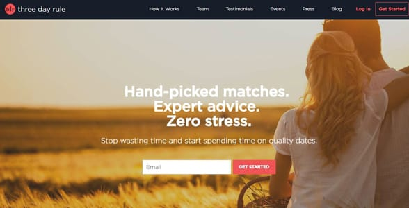 Screenshot of Three Day Rule's website