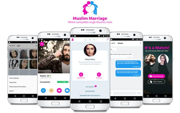 Photo of the MuslimMarriage app on mobile devices