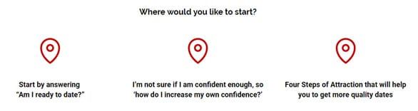 Screenshot of questions for Lucie Luvidya's clients