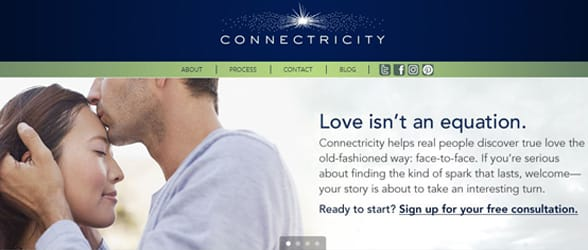 Screenshot of the Connectricity website