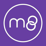 Photo of the M8 dating app logo