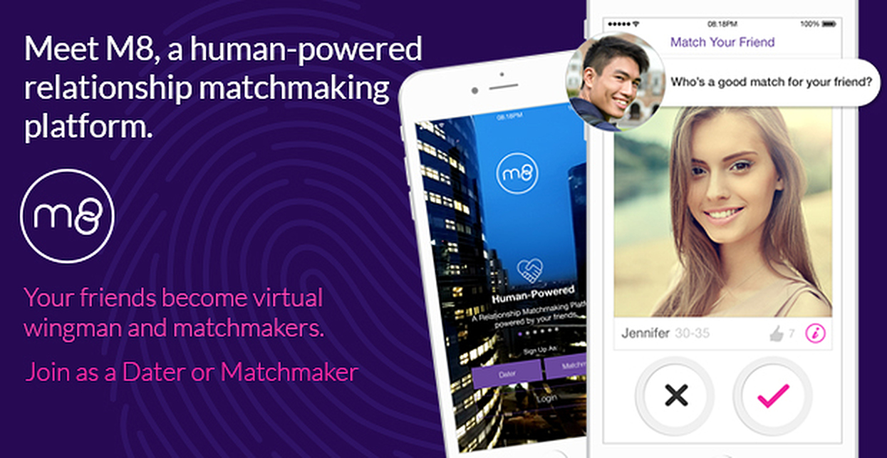 On M8, Users Can Play Matchmaker or Get Set Up by Their Friends