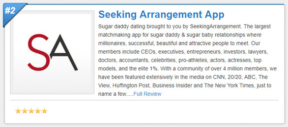 Screenshot of a Sugar Daddy Meet app short review