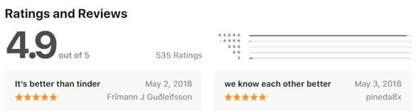 Screenshot of Crush reviews