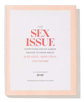"Photo of the cover of Goop's ""Sex Issue"""
