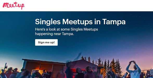 Screenshot of Meetup.com