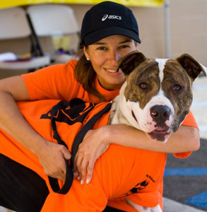 Photo of an Orange County Humane Society volunteer