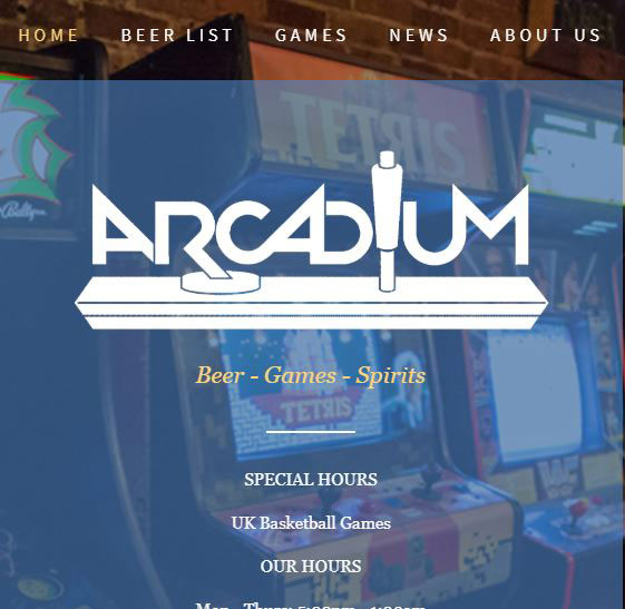 The Arcadium Bar Logo
