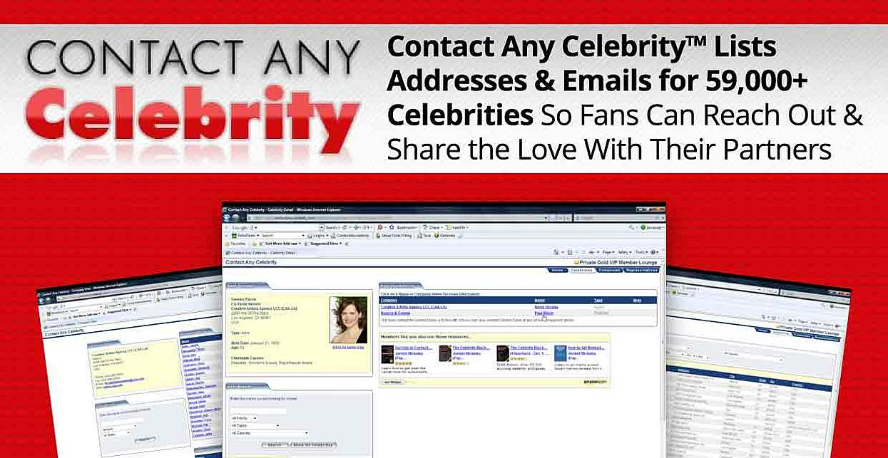 Contact Any Celebrity™ Lists Addresses & Emails for 59,000+ Celebrities So Fans Can Reach Out & Share the Love With Their Partners
