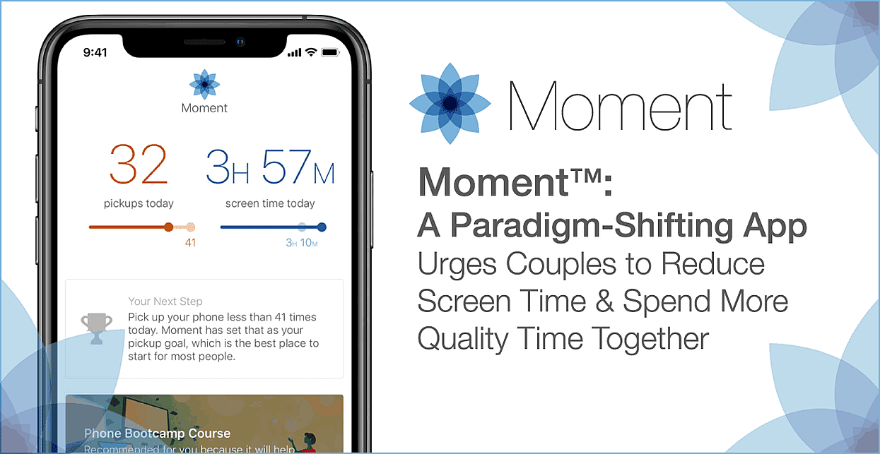 Moment™: A Paradigm-Shifting App Urges Couples to Reduce Screen Time & Spend More Quality Time Together