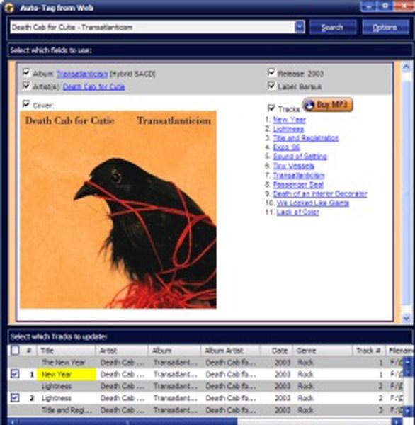Screenshot from MediaMonkey